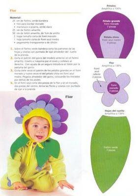 Ideas Disfraz De Flor Con Patrones Sewing Hats Trick Or Treat Baby Shower