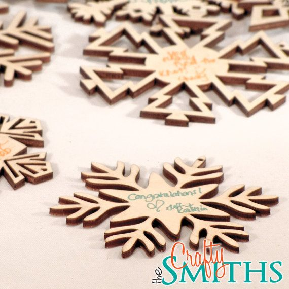 Winter Wedding Guest Book Alternative - Wooden Laser-Cut Holiday ...