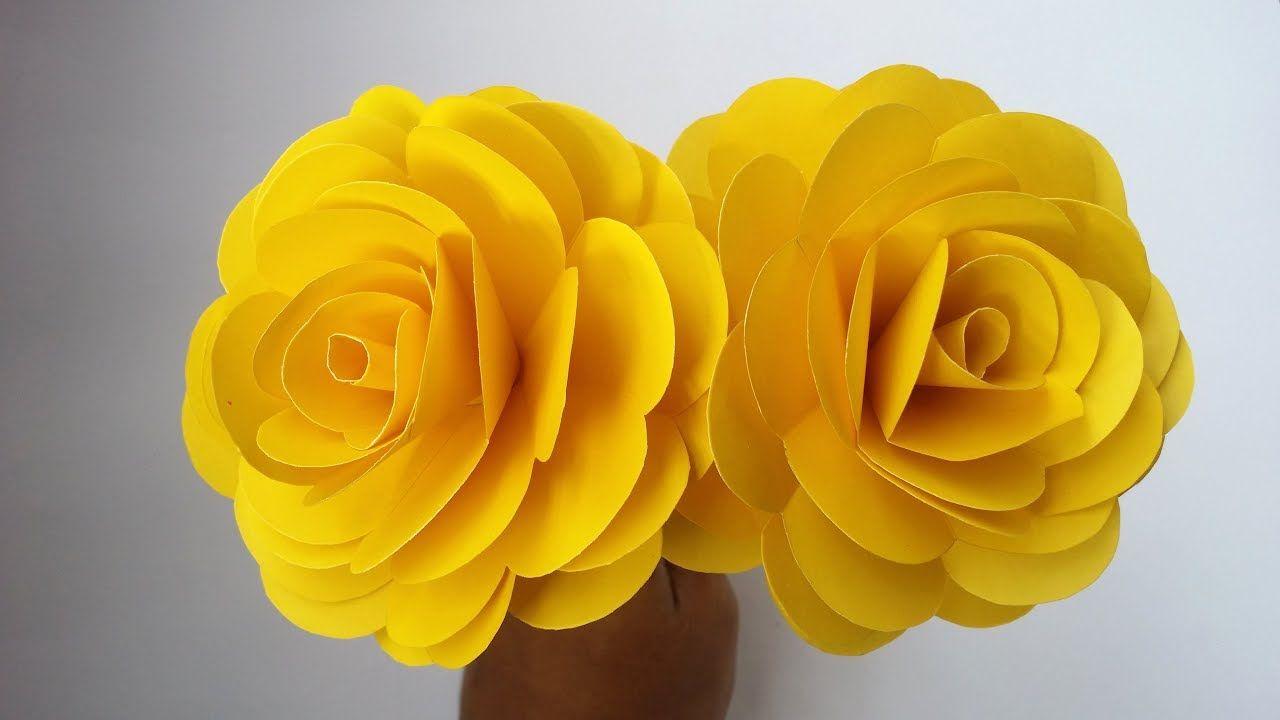 Yellow Paper Flower Tutorial