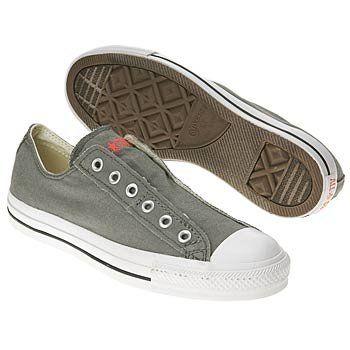 Converse Chuck Taylor AllStar CharcoalOrange Slipon Shoes 1X841