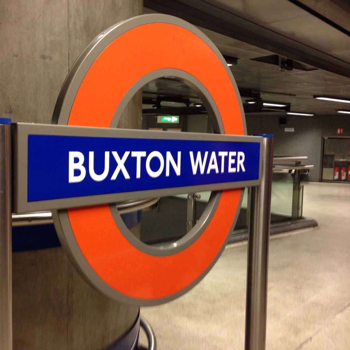 Over here in London one of the tube stations changed their name to #buxtonwaters in thanks for their amazing job and sponcering of the London marathon 2015