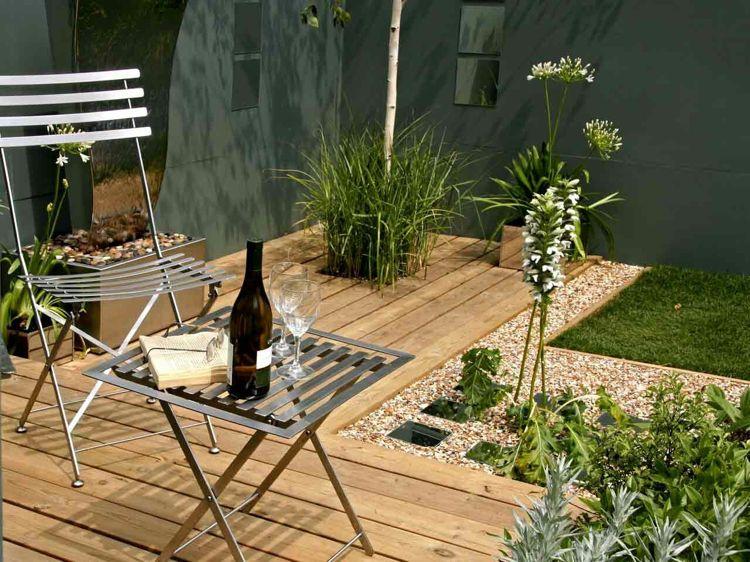 Pflegeleichte Gartenideen Kies Ohne Rasen Kunstrasen Modern