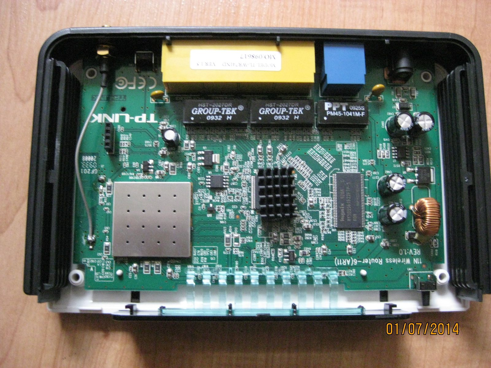 Router hardware version 1 5 PBC board by cmsv | TP Link WR