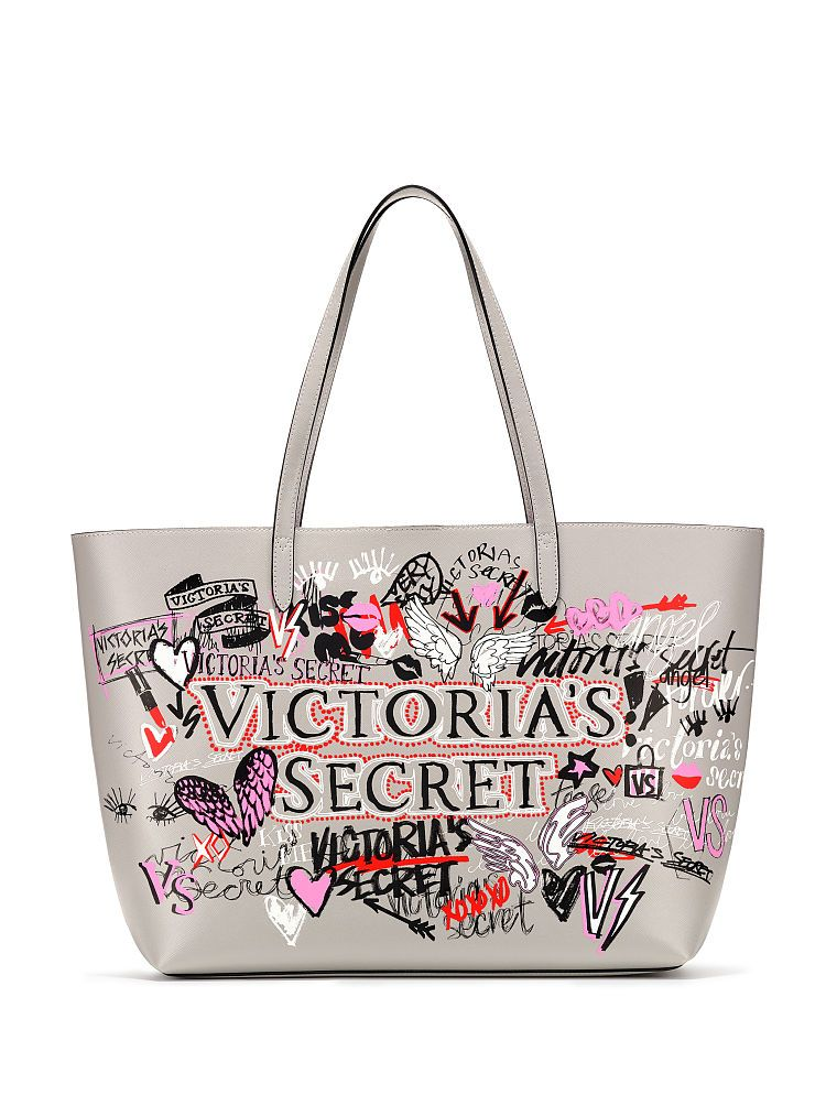 814244145bb87 Victoria's Secret Graffiti Everything Tote | Products in 2019 | Pink ...