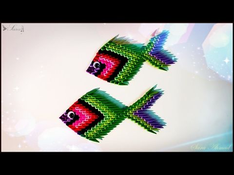 How To Make 3d Origami Fish 3 Youtube Manualidades Pinterest