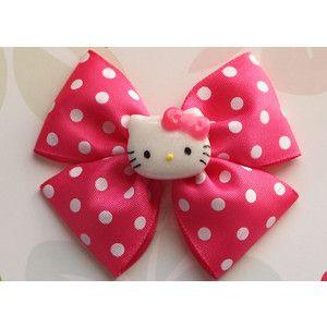 Beautiful Hello Kitty Hair Clip Bow