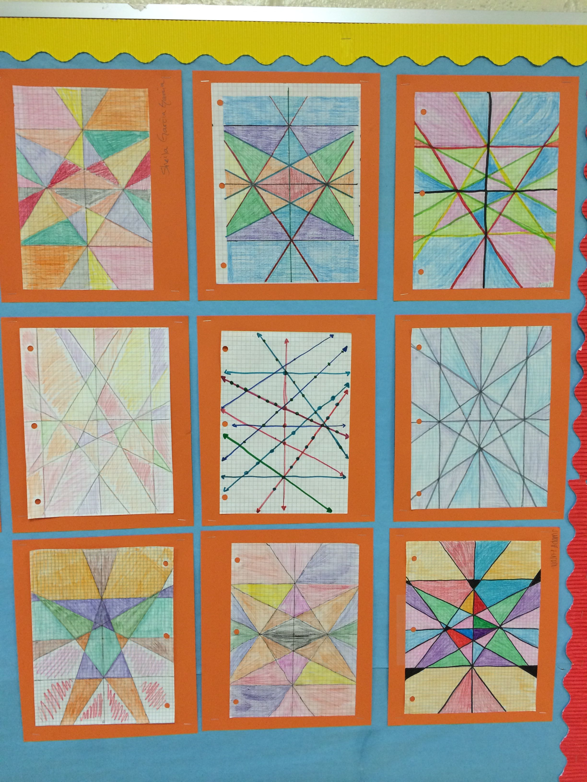 Linear Equations Stained Glass Window Math Is Art! | Teacher Pins ...