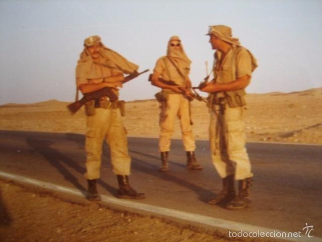 Fotografía Soldados Del Ejército Español Sahara Español Soldado Del Ejército Soldados Ejercito