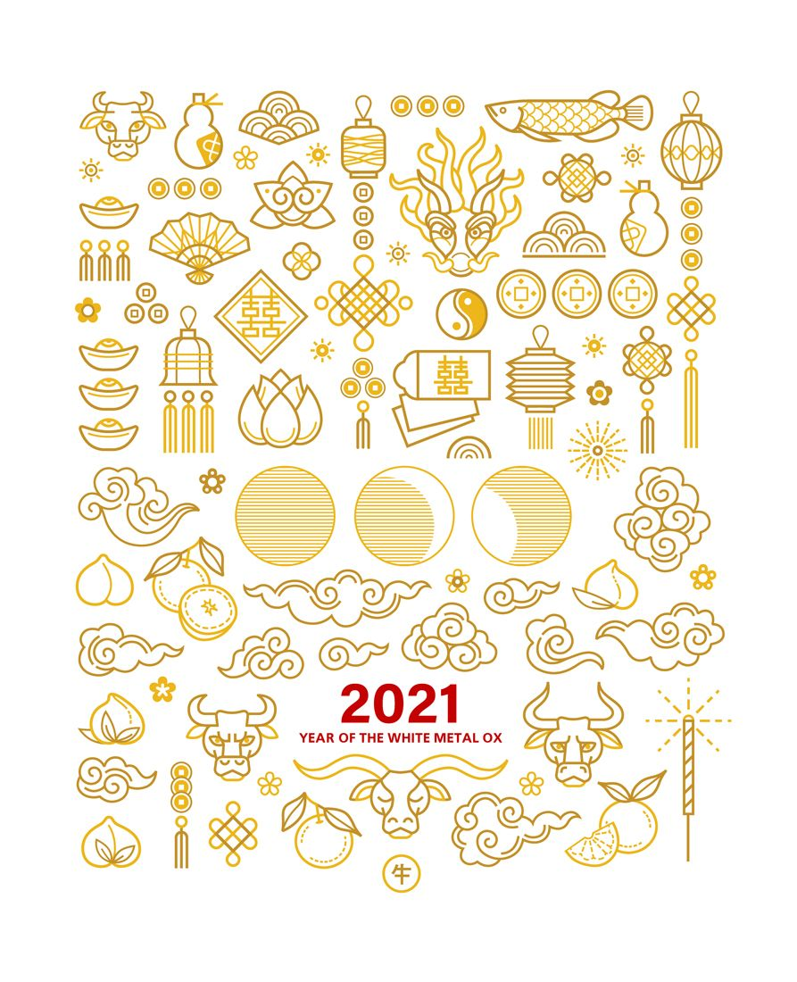 Chinese Design Elements. Bundle 2021 in 2020 Chinese