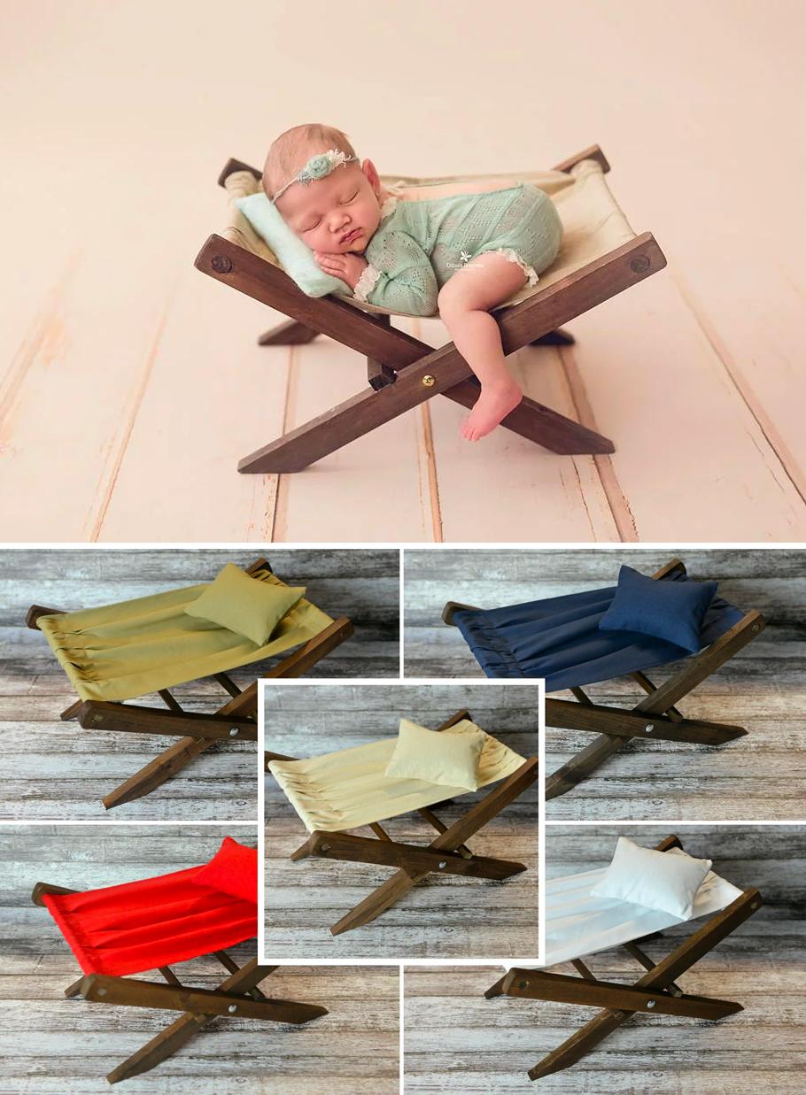 Newborn Posing Deck Chair Photography