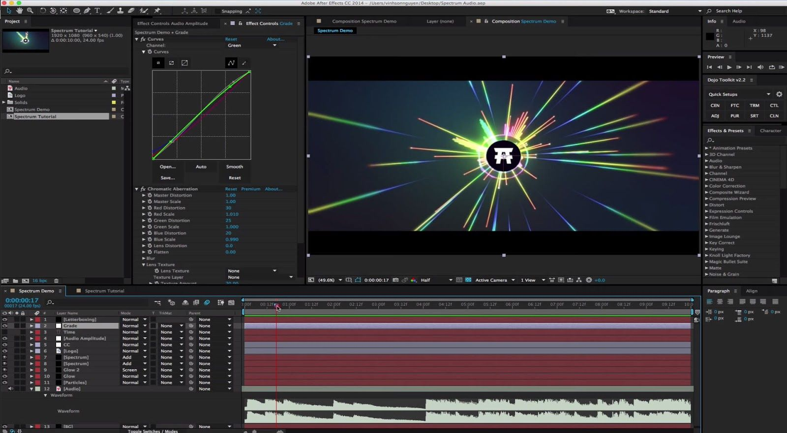 how to add waveform to video premiere