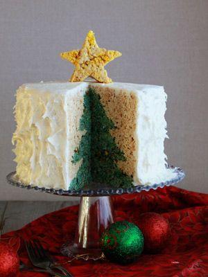 Fn Dish Christmas Cake Christmas Tree Cake Inside Cake