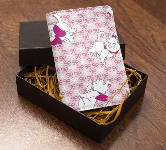 Flower Petals Dark Leather Passport Holder Cover Case Travel One Pocket