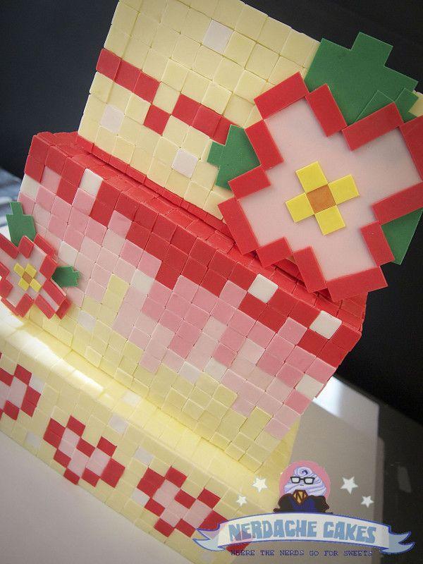 Nerd também casa: Bolo de casamento 8bit é perfeito para fãs de Pixel Art! | Nerdivinas