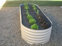 Corrugated Metal With Rounded Corners Horizontal Stripes Garden