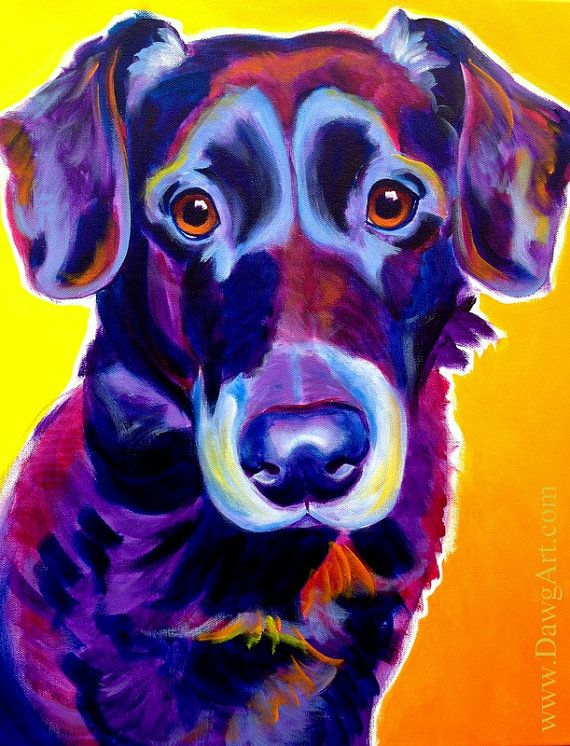 Print of Colorful Labrador Dog Painting by Alicia VanNoy Call ...