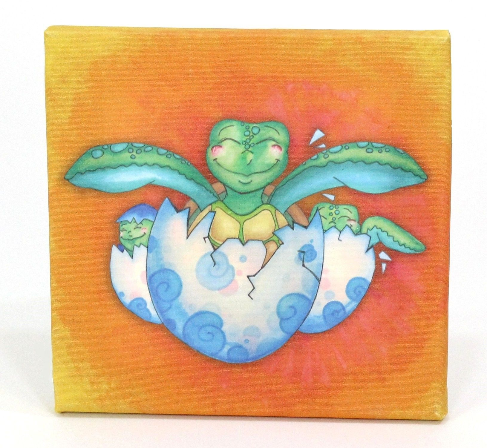 Growing Kids Sea Turtle Journey Hatching with Friends Graphic Art on Canvas