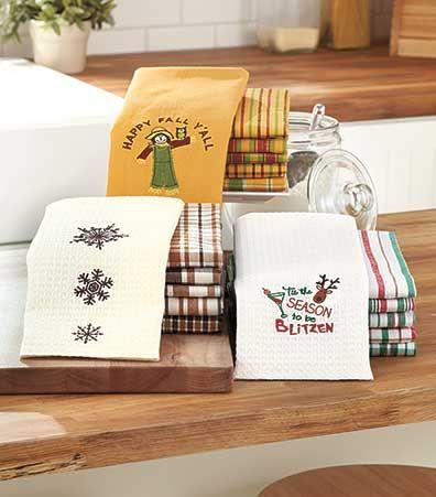 6 Pc. Seasonal Kitchen Towel Sets