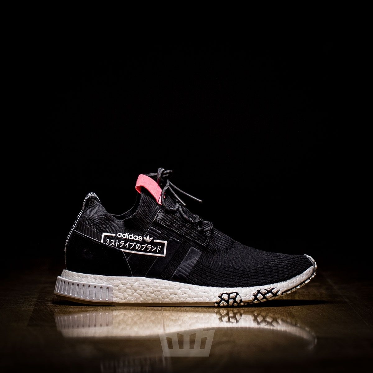 5510a35cabed Adidas NMD Racer PK Black White Gum ALPHATYPE RED ATAF
