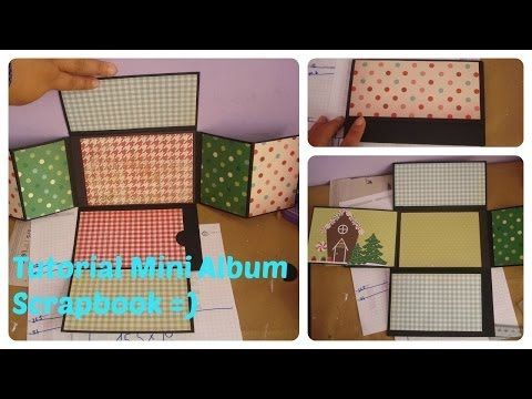 tutorial mini album scrapbook youtube minialbum. Black Bedroom Furniture Sets. Home Design Ideas
