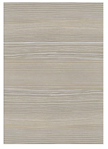 Melamine Slab Door Style Textured Horizontal Woodgrain With 2mm