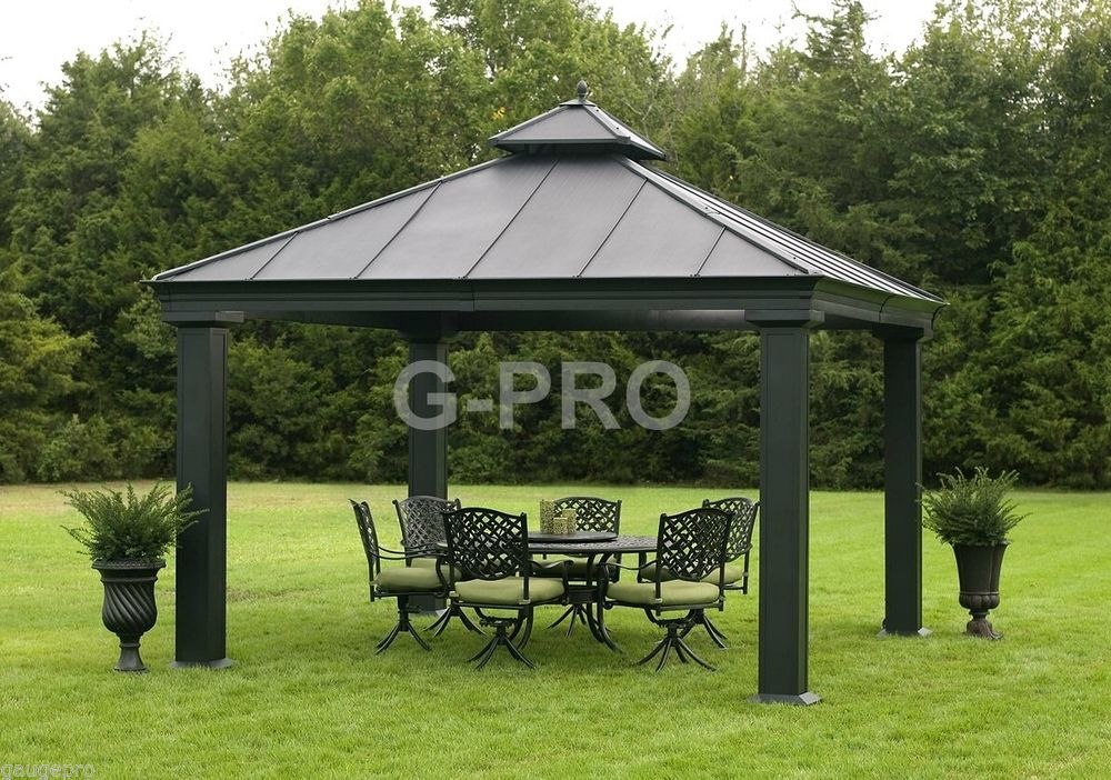 OUTDOOR METAL HARDTOP 12u0027 x 12u0027 x 12u0027 GAZEBO | CANOPY & The Games Factory 2 | Canopy Patios and Doors