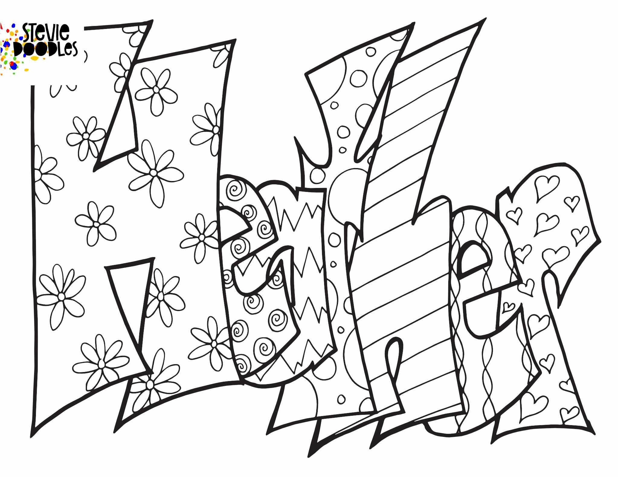 Heather Free Printable Coloring Page Stevie Doodles Free Printable Coloring Pages Name Coloring Pages Coloring Pages