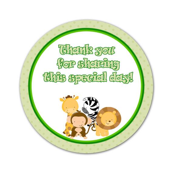 Zebra Favor Labels or Gift Tags Black White Baby Girl Shower Printable