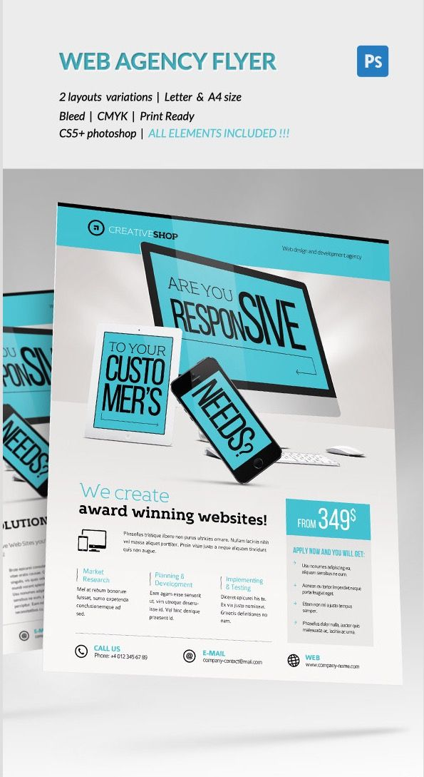 Creative Web Design Agency Flyer Flyer Design Examples Flyer