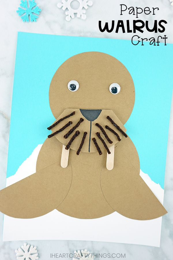 Paper Walrus Craft for Kids #craftsforkids