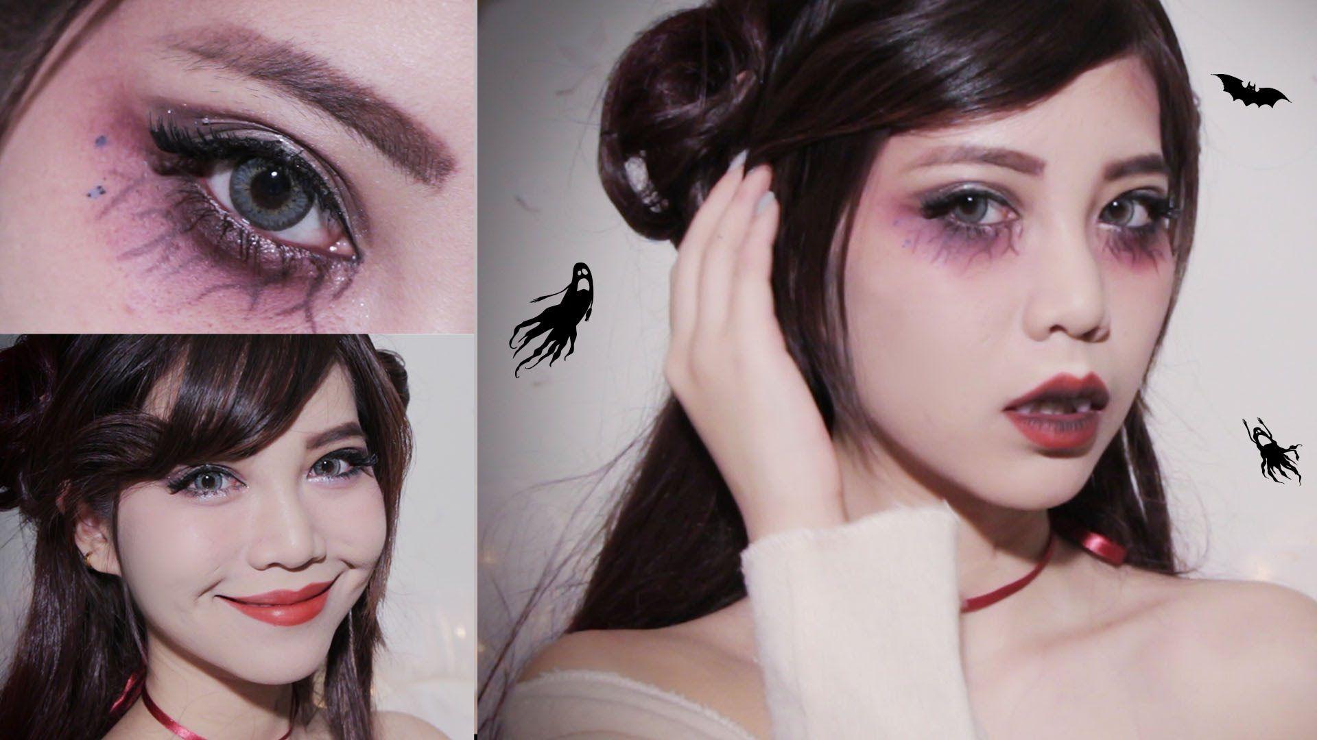 Easy Halloween makeup l Cute Vampire  Beauté  Pinterest  Easy