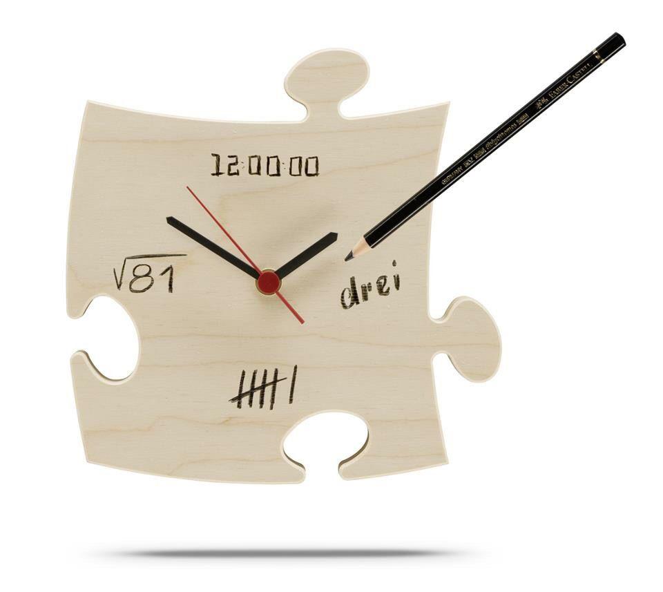 Puzzle Uhr Aus Holz Zum Selber Beschriften. DIY. Design Und Herstellung  Country Living E.K.