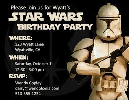 Awesome FREE Template Star Wars Birthday Party Invitations