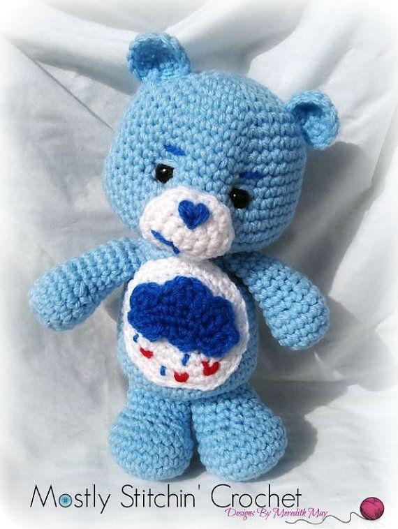 Care Bear Grumpy Bear CROCHET PATTERN PDF by MostlyStitchin