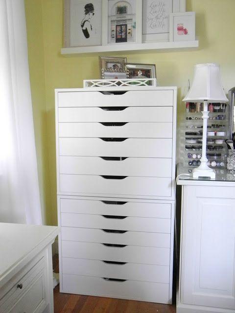 ikea alex drawers makeup storage house home pinterest traumzimmer sitzecke und b ros. Black Bedroom Furniture Sets. Home Design Ideas