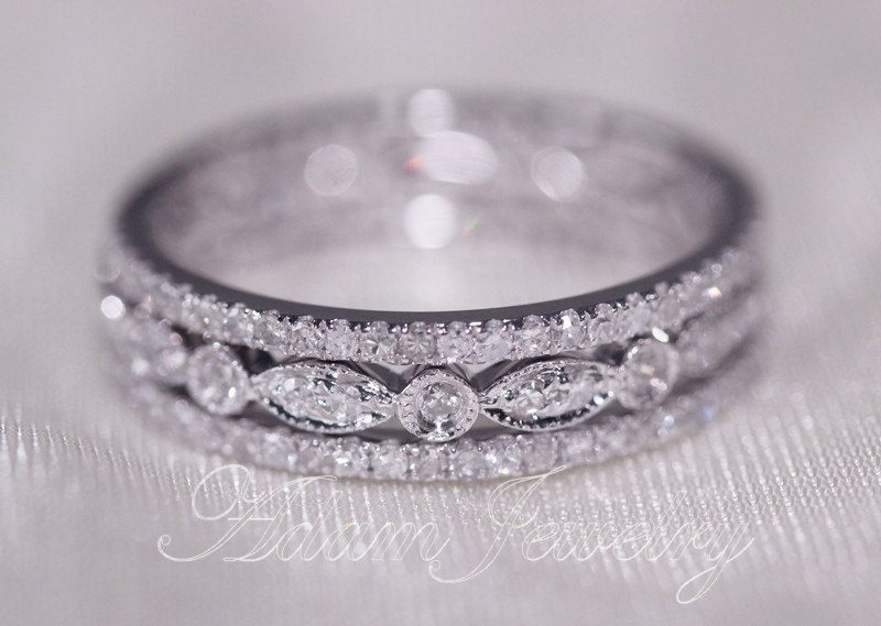 discount 3 eternity bands 1 1mm 14k white gold by