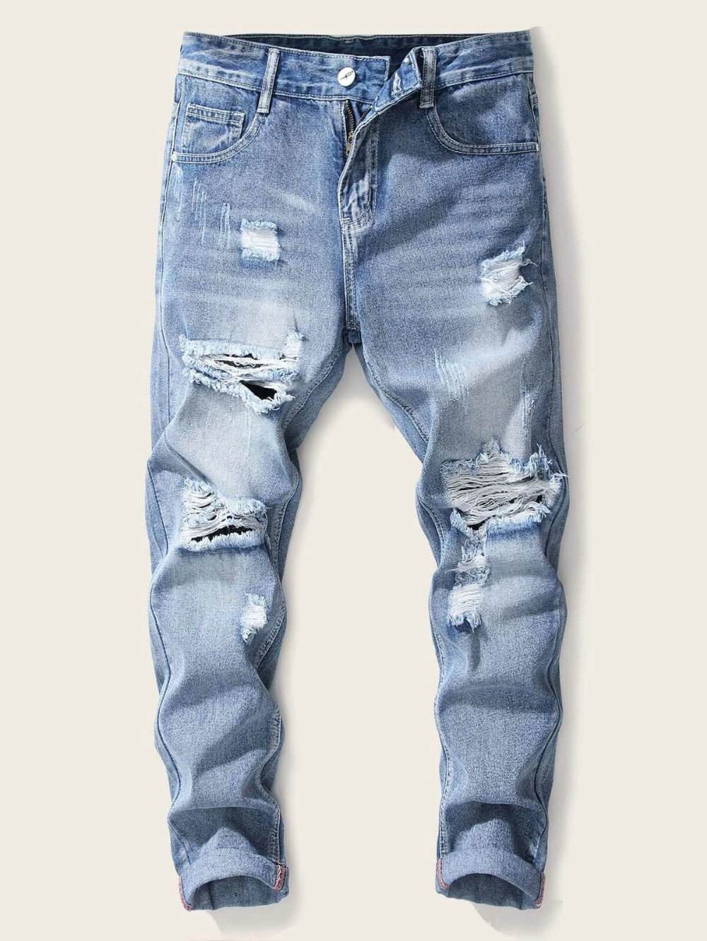 Guys Ladder Distressed Jeans Ripped Jeans Men Distressed Jeans Mens Clothing Sale [ 1331 x 1000 Pixel ]