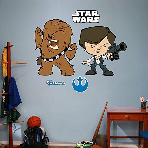 Fathead realbig star wars han solo and chewbacca pop duo wall decal