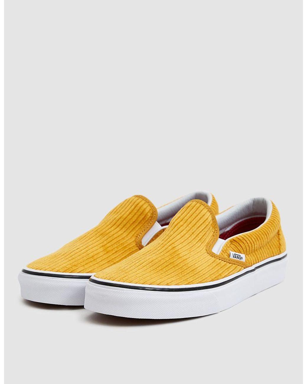 Vans Yellow Corduroy Classic Slip-on