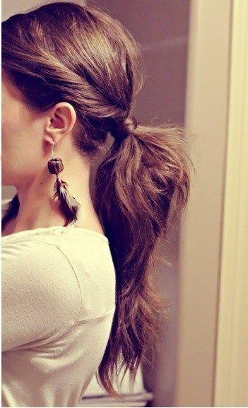 funky ponytail.