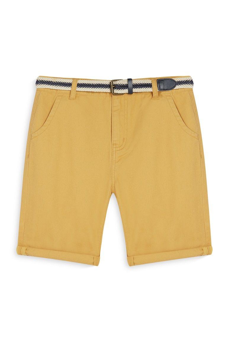 e3e4279e2b8e4a Short moutarde avec ceinture garçon | TENDANCE GARCON 18 | Moutarde ...