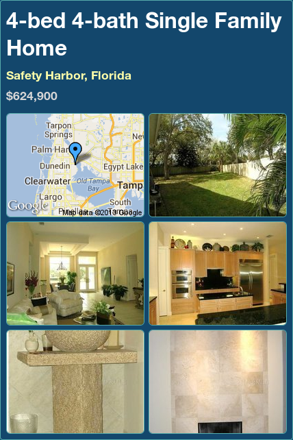 4bed 4bath Family Home in Safety Harbor, Florida
