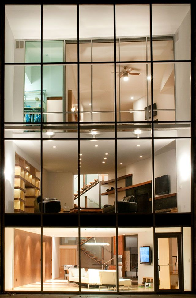 marvelous exterior glass wall systems #5: Granville Residence Exterior | 3-story glass home | Junction Architecture