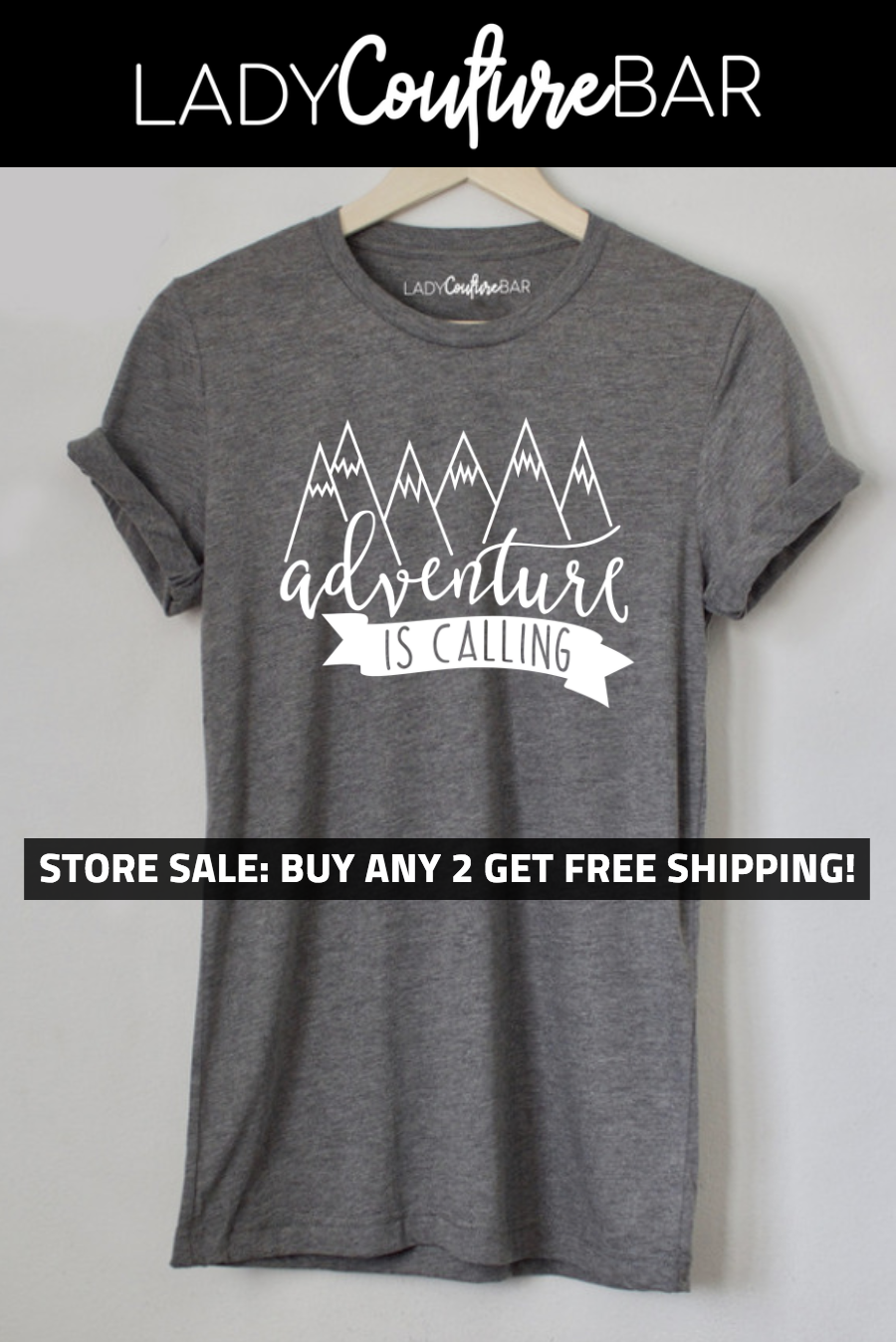 696a1759 Women Shirts with Sayings, Adventure shirts, Mountains are calling, Buy 2  Get Free Shipping #adventure #glamping #camping