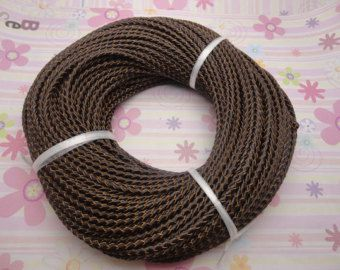 3mm Braided Leather String / Soft Round Cord / by MiniatureSweet