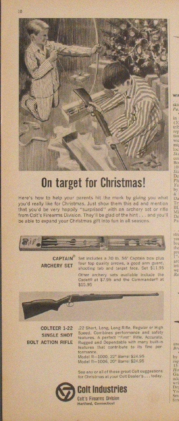 1965 colt colteer 22 single shot gun bolt action rifle vintage 1965 colt colteer 22 single shot gun bolt action rifle vintage hunting print ad ccuart Choice Image