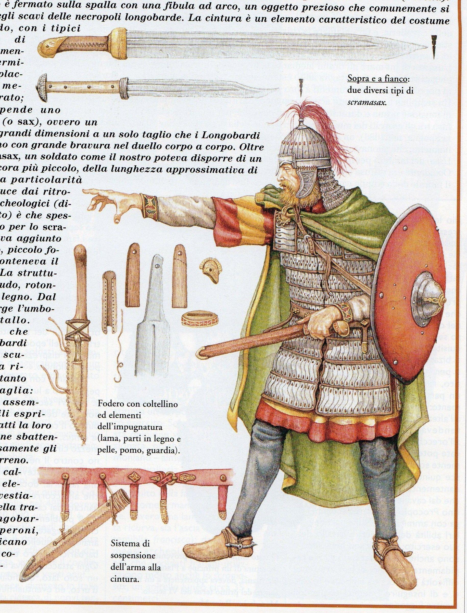 Guerriero Longobardo, VII secolo d.C.