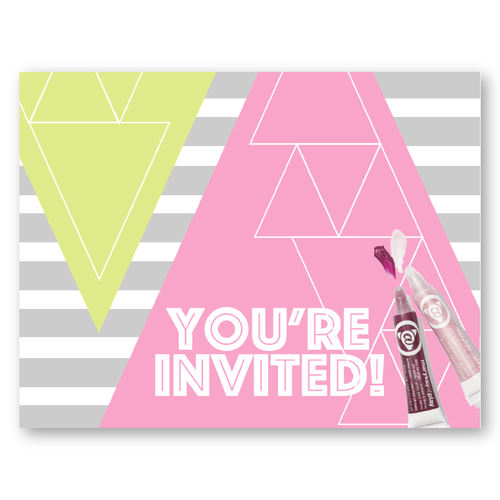 Pop & Glow Party Invitation to perfectly go with the new Mary Kay products…