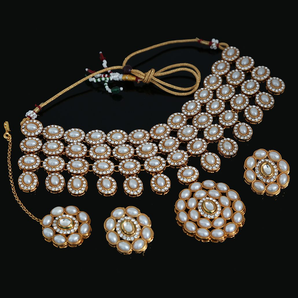 Pearls Studded Choker Necklace inspired by Deepika ...