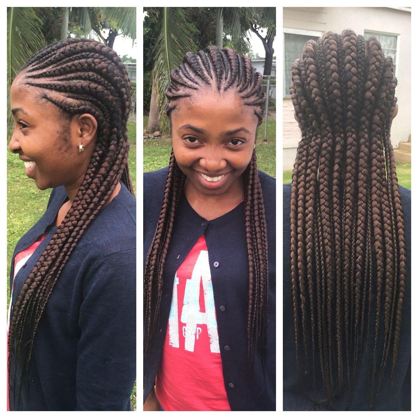 Ghana braids/ Ghana cornrows